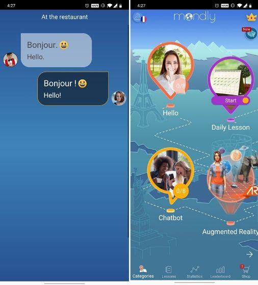 Mondly app aprender idiomas