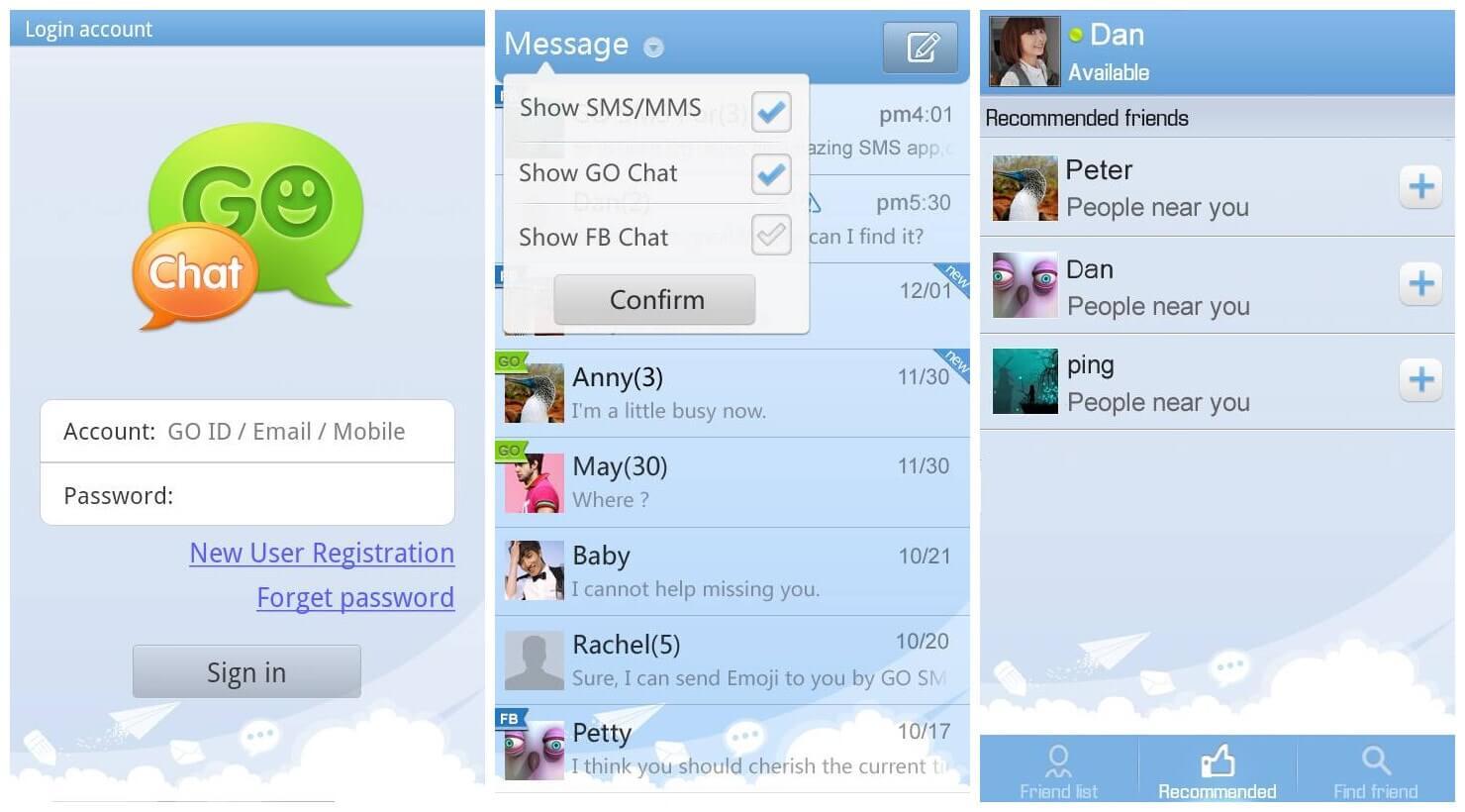 aplicaciones de mensajes ocultos para Android.