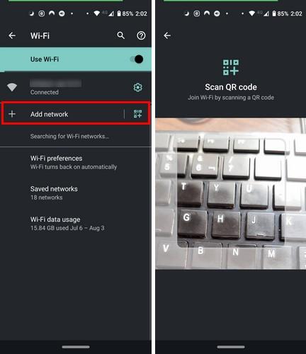 Comparte la contraseña de Wi-Fi por código QR