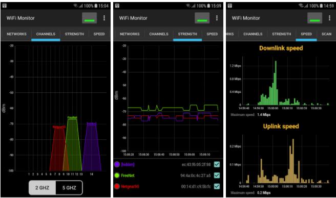 analizar WiFi de Android