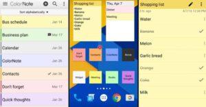Color note app para tomar notas en Android