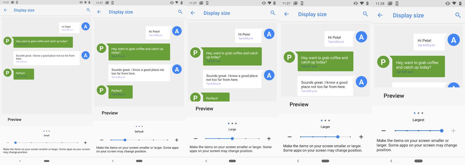 Ampliar texto teléfono Android