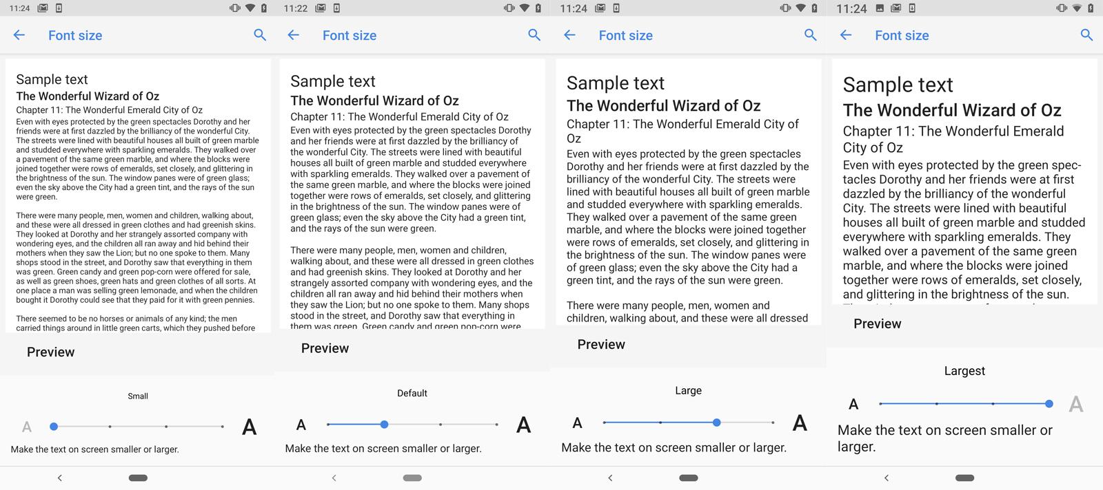 como Ampliar el texto en Android