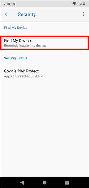 como encontrar smartphone Android