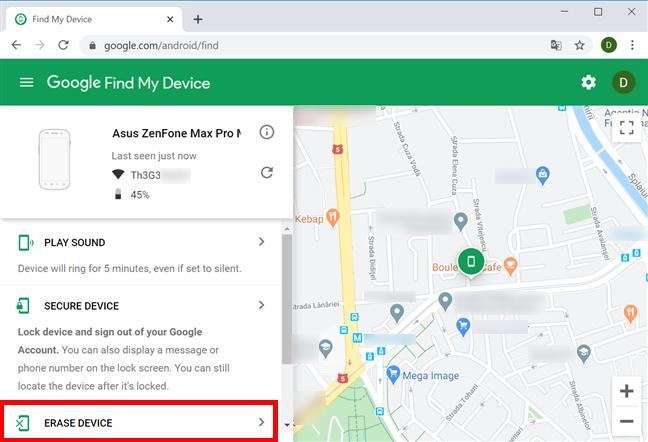 como encontrar dispositivo Android smartphone