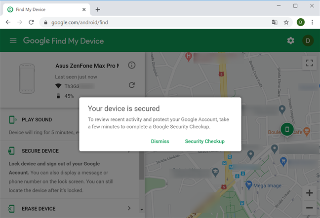 Your device is secured