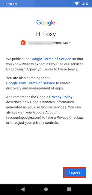Agree to Google