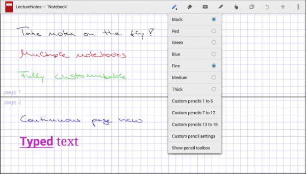 aplicación para tomar notas a mano
