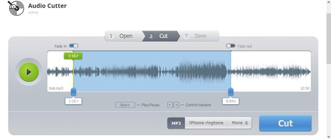 mp3cut.net - A ringtone maker website