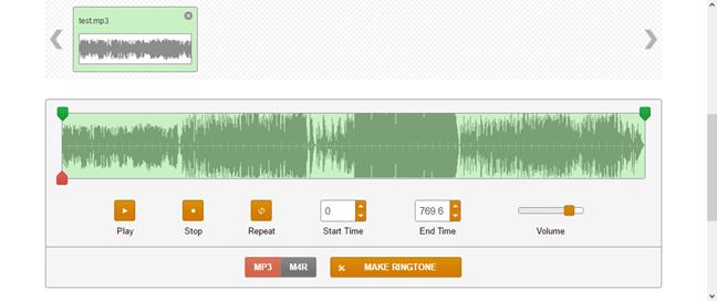 ringer.org - A ringtone maker website