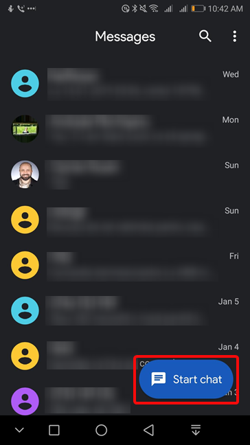 Start chat in Android
