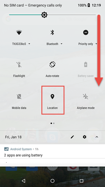 Activating Location in Android