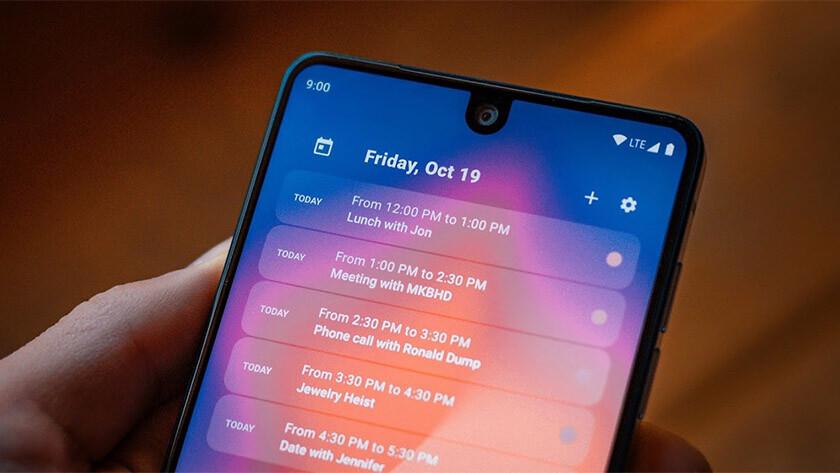 Este es Calendar Widget, uno de los mejores widgets de Android