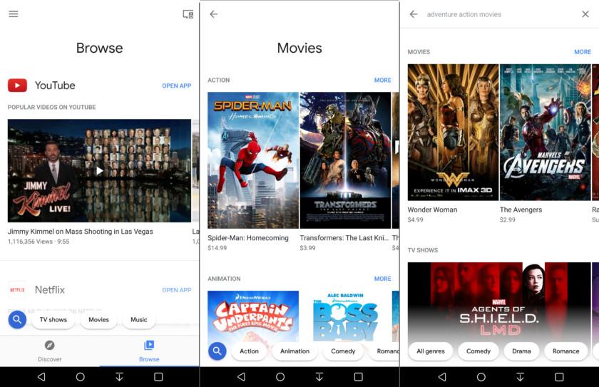 Chromecast en pantallas de impresión de Android