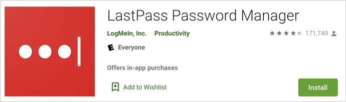 Administrador de contraseñas de LastPass