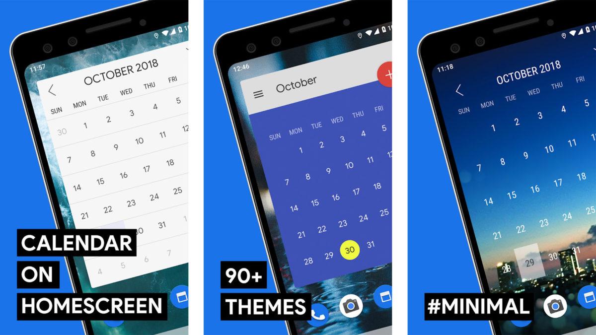 Captura de pantalla del widget de calendario mensual para la mejor lista de widgets de Android