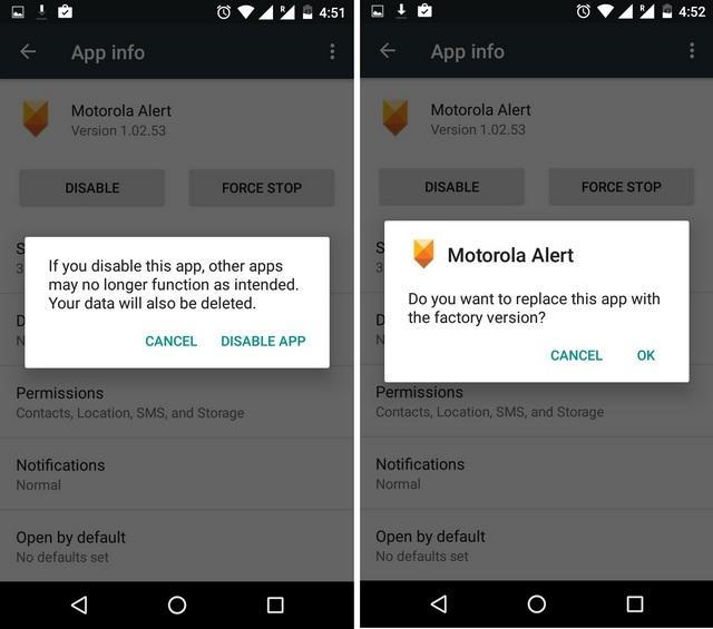 Desactivar la aplicación del sistema en Android