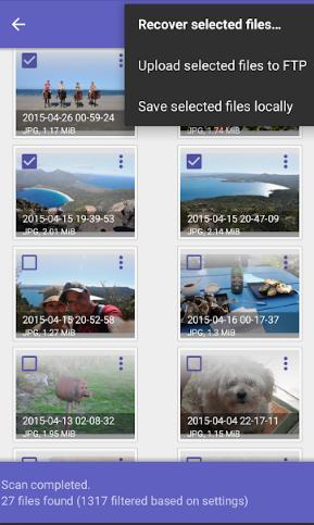 Recuperar los archivos eliminados
