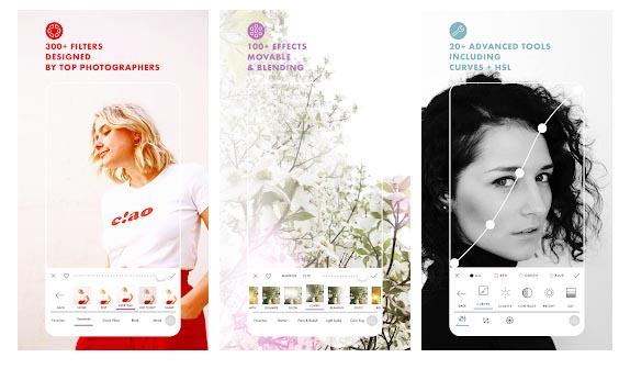 Color Story app para filtros de cara