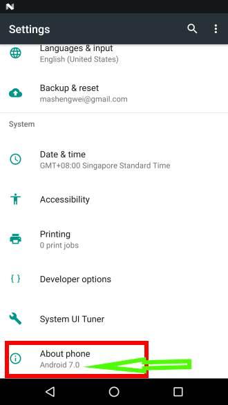 verifique la versión de Android en su teléfono o tableta