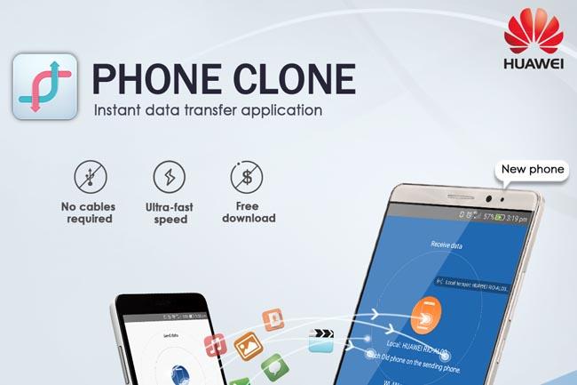 Usar la clonación del teléfono Huawei