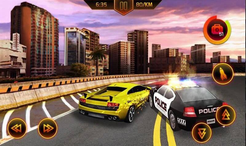 Persecución en coche de policía juegos de carreras de Android para móviles
