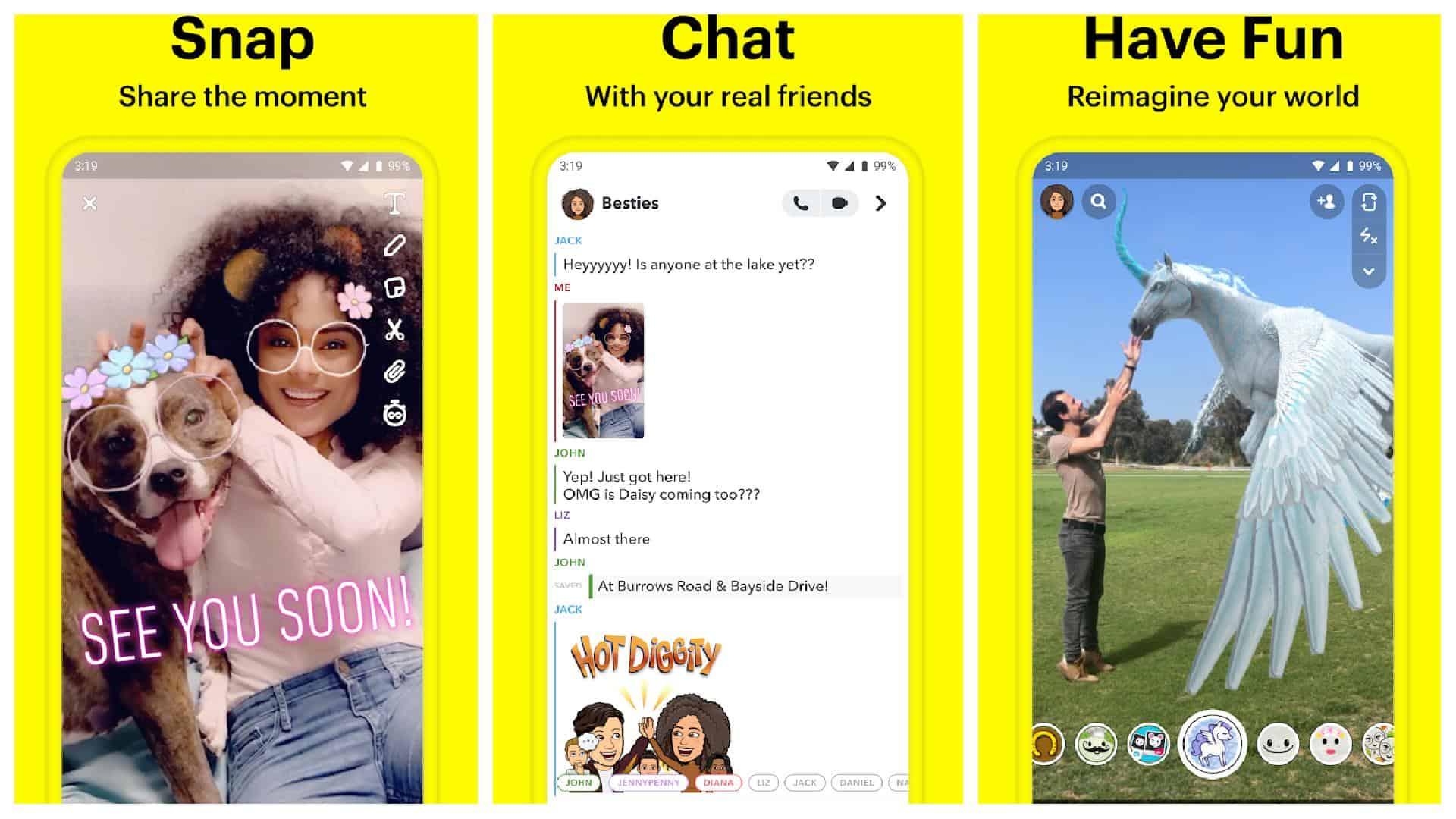 Cuadrícula de la aplicación Snapchat 1