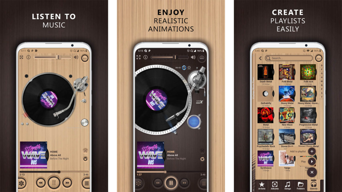 Captura de pantalla de Vinylage Music Player