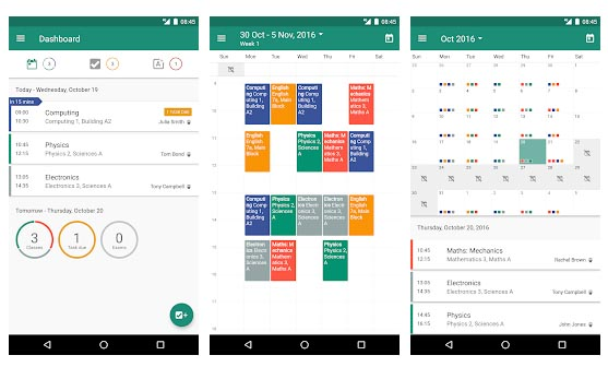 Aplicaciones de calendario para android My Study Life