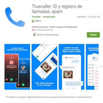 Aplicación TrueCaller