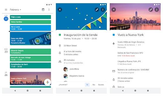 apps de calendario para Android