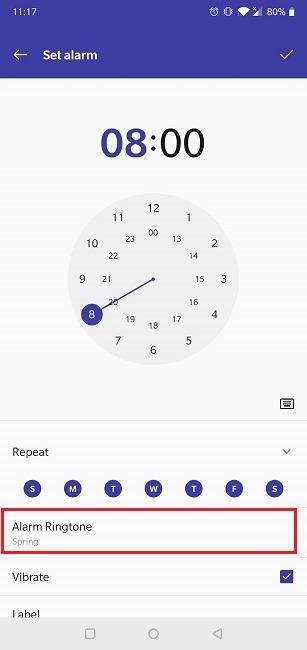 Cómo configurar el tono de llamada predeterminado de la aplicación Spotify Alarm Native Clock