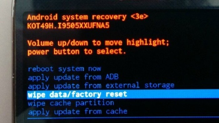 Desbloquee el teléfono Android haciendo un restablecimiento de fábrica