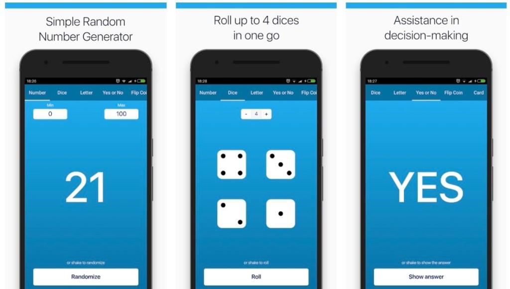 Apps para generar números aleatorios