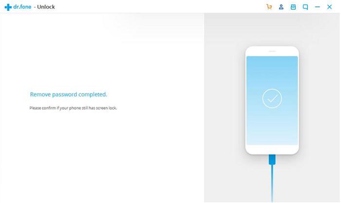 Desbloquear el teléfono Android usando dr.fone - contraseña eliminada