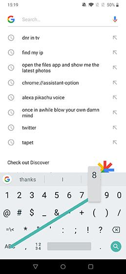 Accesos directos geniales de gboard para Android