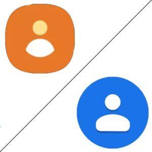 Contactos de Google vs Contactos de Samsung