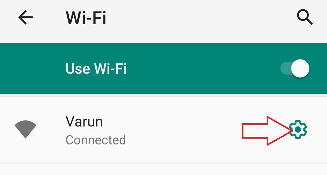 Ir a la red wi-fi