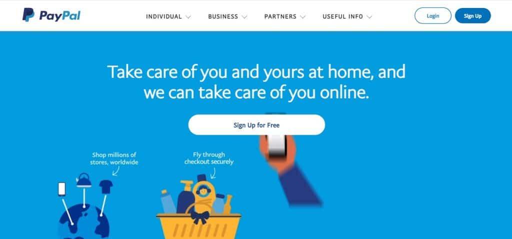 sitio web de paypal