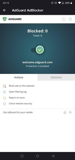 Los mejores complementos de Firefox para Android Adguard Adblocker