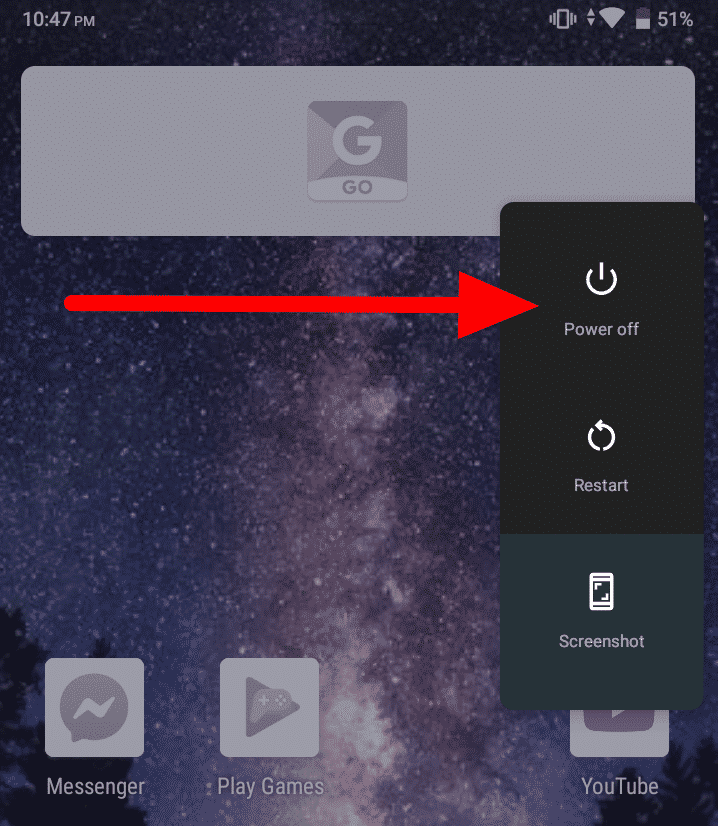 Cómo desactivar el modo seguro en Android - Apagar