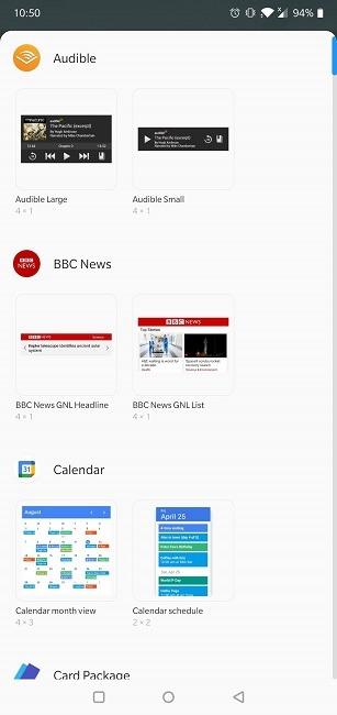 Crear widgets de Android disponibles para el dispositivo