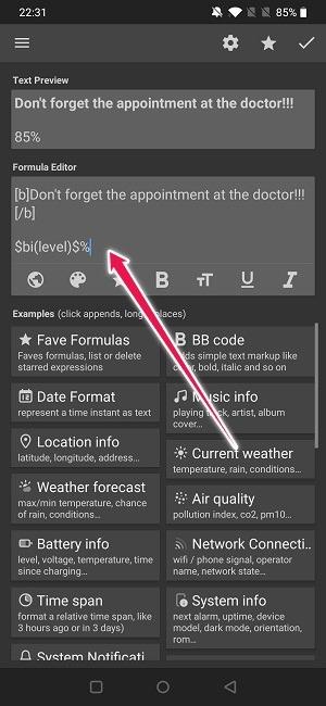 Crear widget de escritura de texto de Android