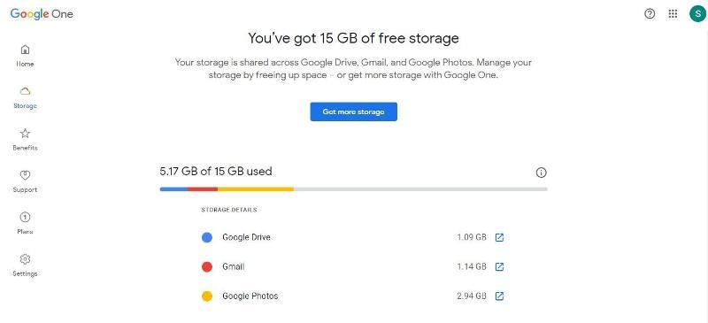 ¿Cuánto almacenamiento de Google me queda?