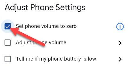 poner el volumen del teléfono a cero