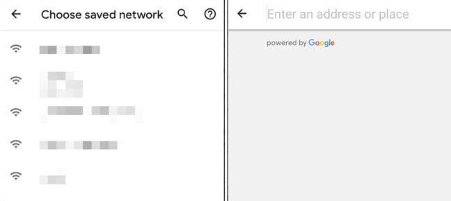 seleccionar red o agregar ubicación