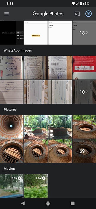 Copia de seguridad de fotos de Google