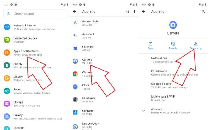Cómo solucionar cuando la cámara falla o no funciona en Android