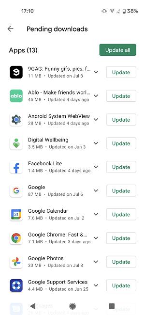 Cómo actualizar aplicaciones Android Play Store Descargas pendientes