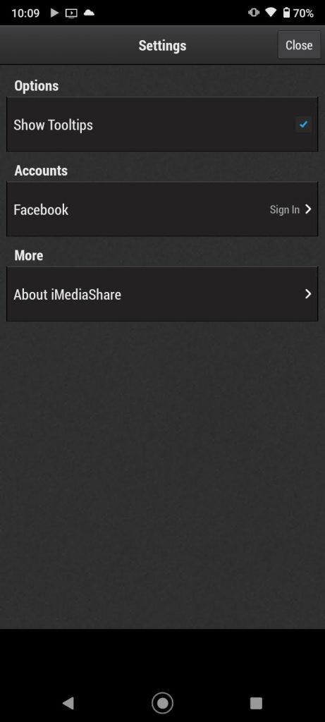 Configuración de iMediaShare